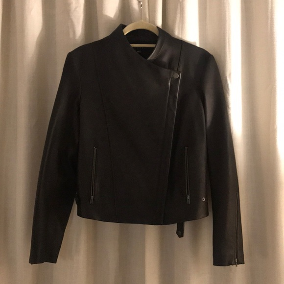 91cca4f5c944  NEW  Theory Phelan R Leather Moto Jacket. M 5be7a41b45c8b30cc91f629b